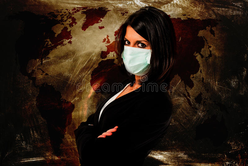 Miedo de la infección stock de ilustración