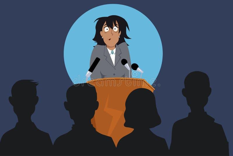 Miedo del discurso público ilustración del vector
