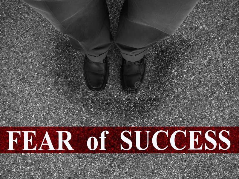 Miedo del negocio del éxito imagen de archivo