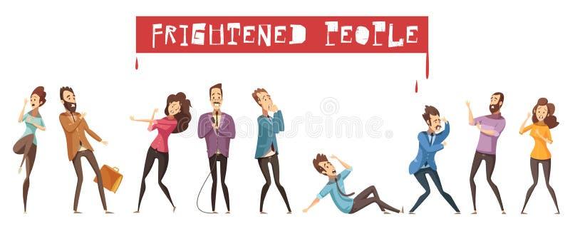 Miedo Person Icon Set libre illustration