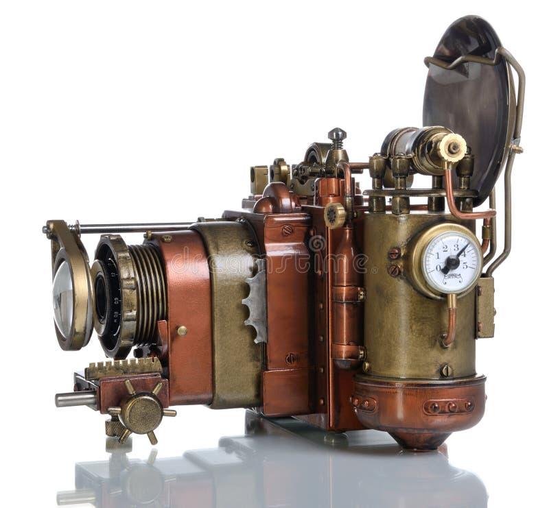 Miedziana fotografii kamera. fotografia stock