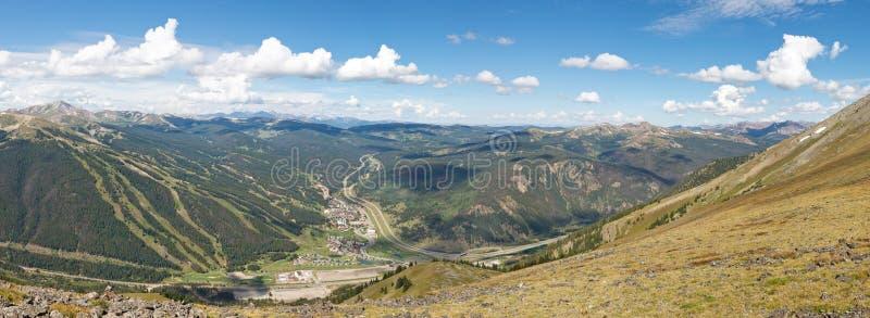 Miedziana Halna Narciarska teren panorama obraz royalty free