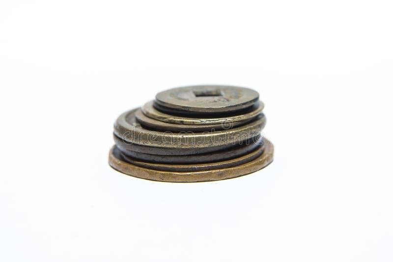 miedziane monety obrazy stock