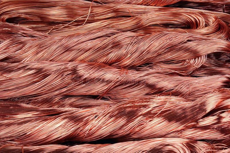 Miedzianego drutu pliki jako tło zdjęcie royalty free
