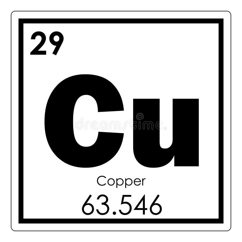 Miedziany chemiczny element ilustracji