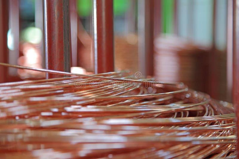 Miedziany drut obrazy royalty free