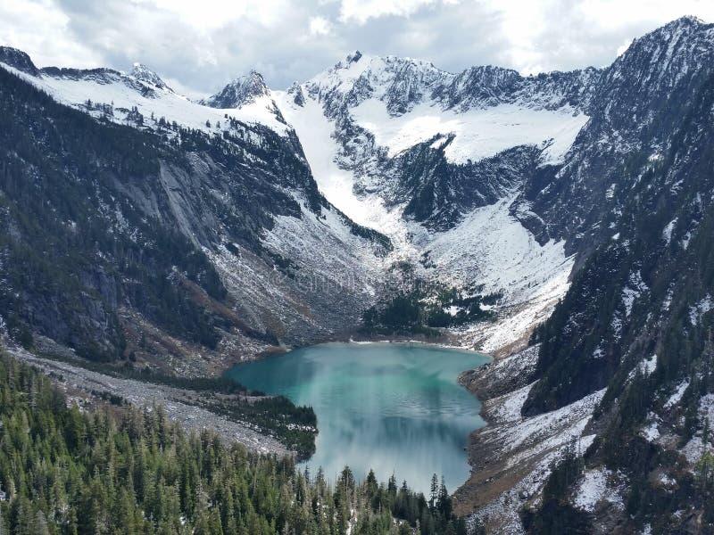Miedziany jezioro obraz royalty free