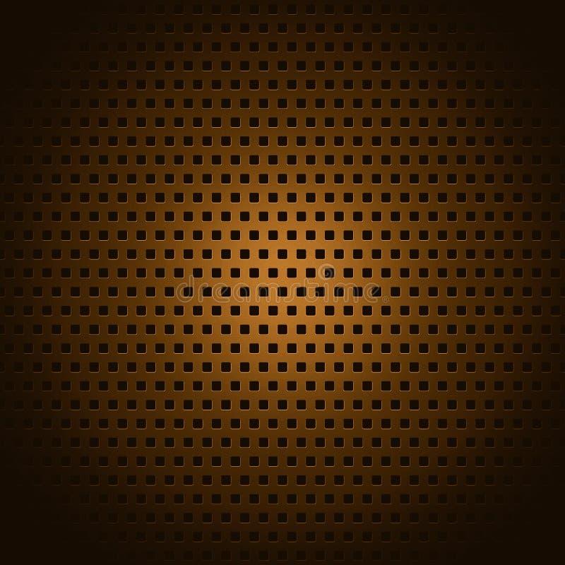 Miedziany kwadrata wzór obraz royalty free