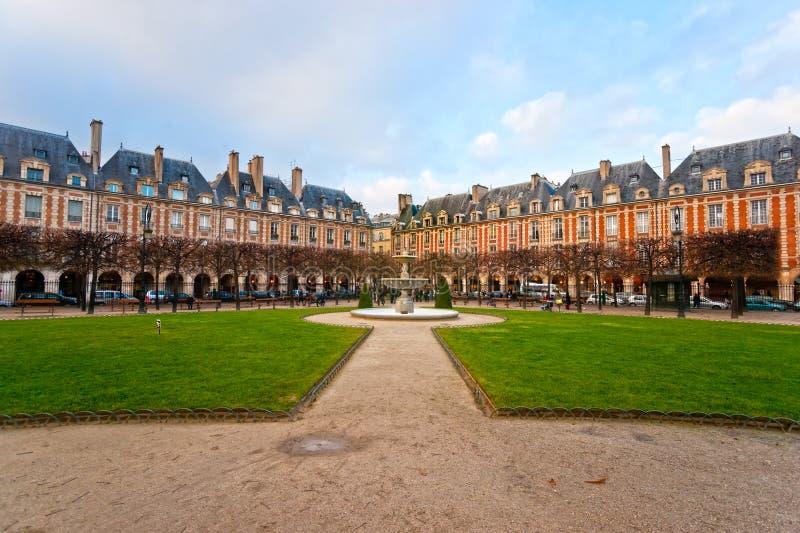 Miejsca des Vosges w Paryż, Francja zdjęcia stock
