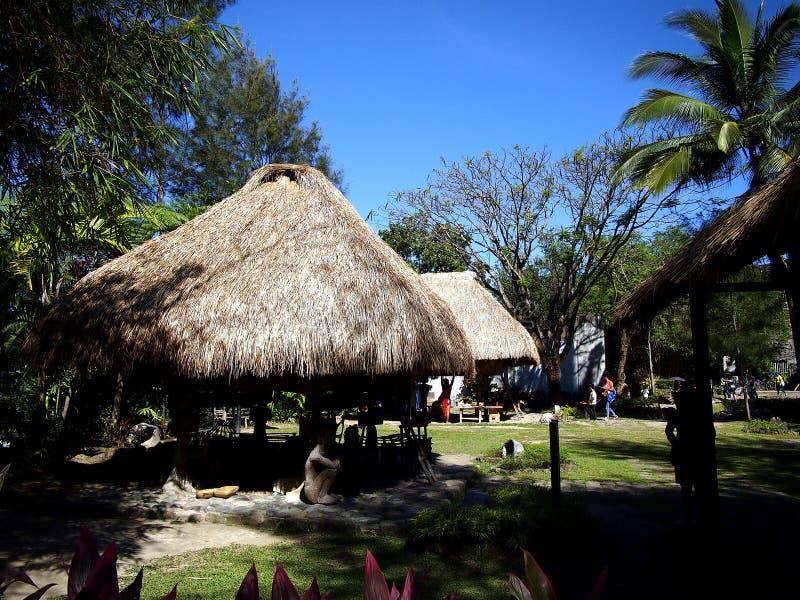 Miejsca i przyciągania wśrodku Nayong Pilipino przy Clark polem w Mabalacat, Pampanga fotografia royalty free