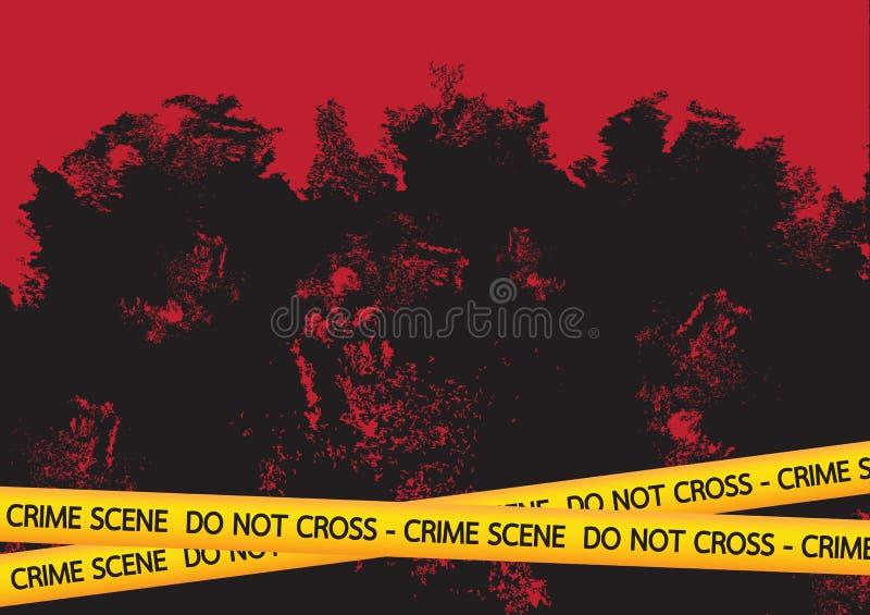 Miejsca przestępstwa niebezpieczeństwo nagrywa ilustrację ilustracja wektor