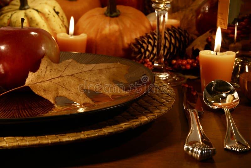 miejsca ustawienia Święto dziękczynienia fotografia stock