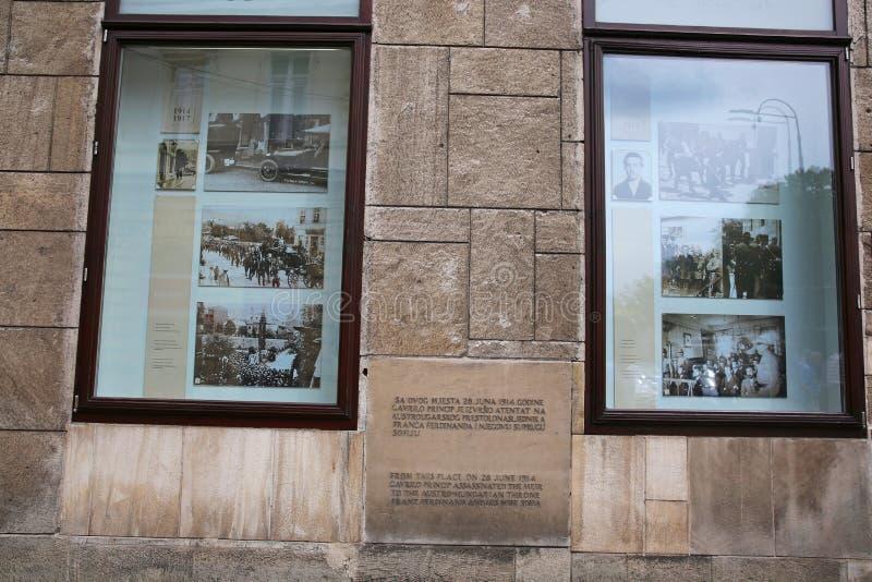 Miejsce Archduke Franz Ferdinand ` s zabójstwo, Sarajevo fotografia stock