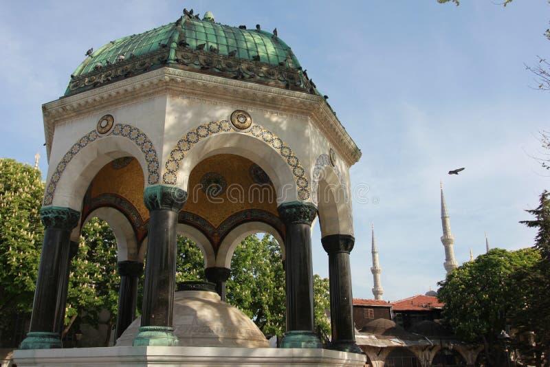 Miejsce blisko do Sainte-Sophie meczetowy Istanbuł, Turcja (Hagia Sophia) obraz stock