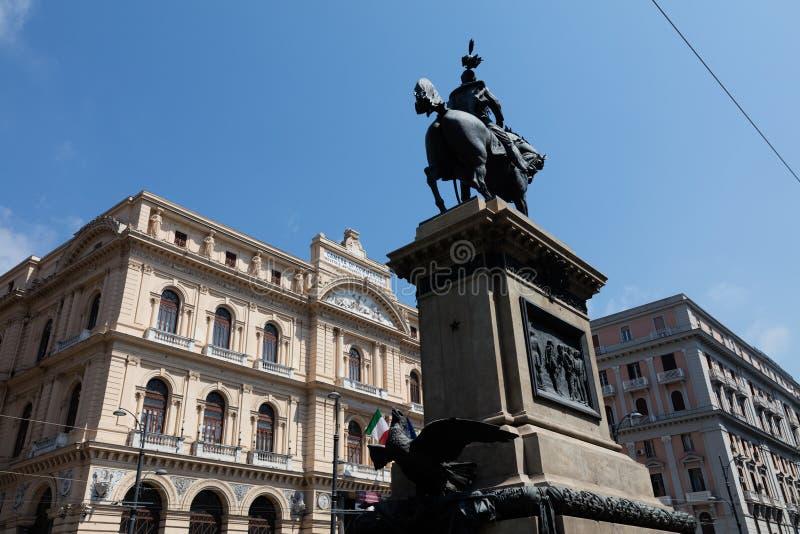 Miejsce Borsa, Naples fotografia stock