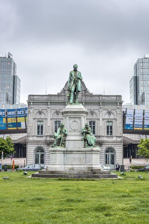 Miejsce du Luksemburg w Bruksela, Belgia. obrazy stock