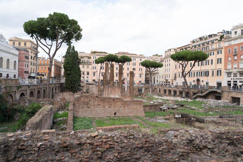 Miejsce historyczne w centrum Rzymu zdjęcie royalty free