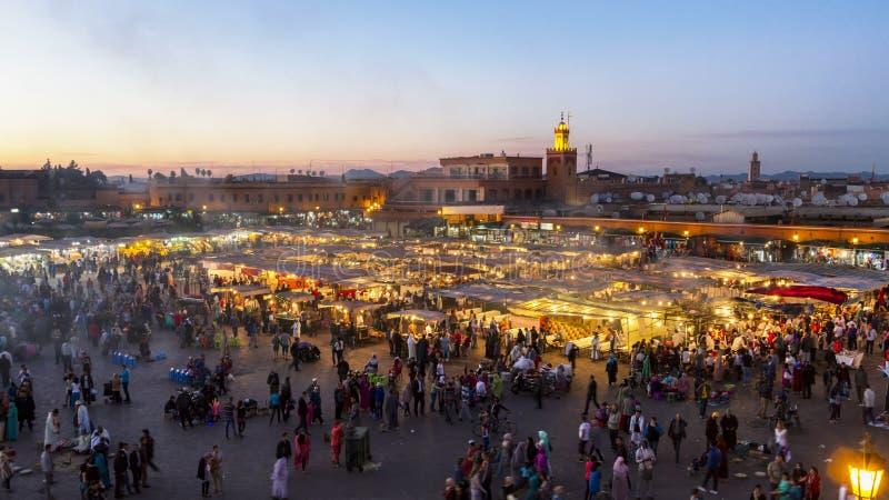 Miejsce Jemaa El Fna, Marrakech, Maroko obrazy stock