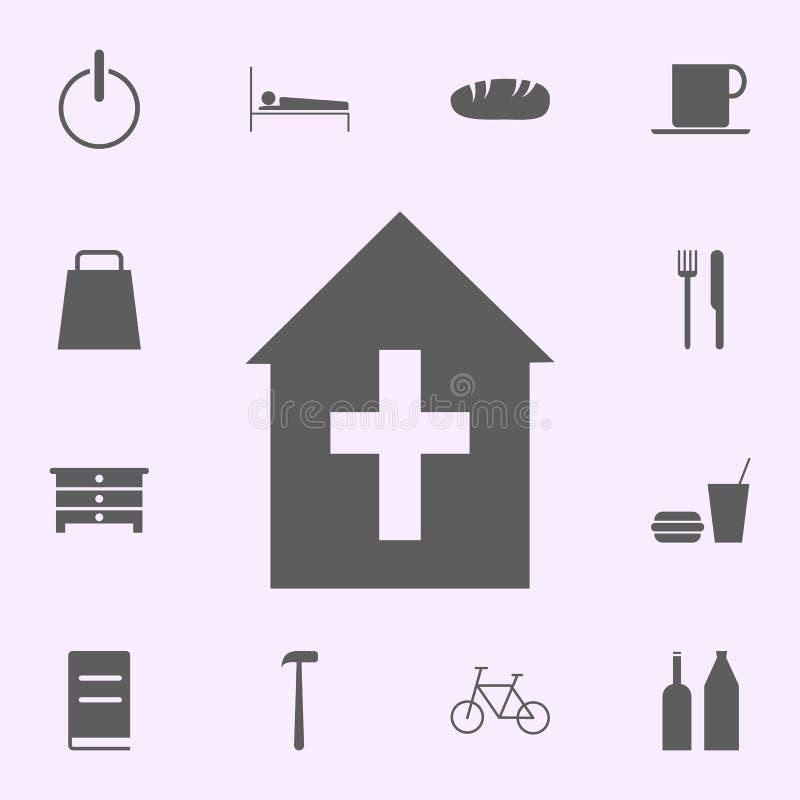 miejsce kościelna ikona znaki szpilek ikon og?lnoludzki ustawiaj?cy dla sieci i wisz?cej ozdoby royalty ilustracja