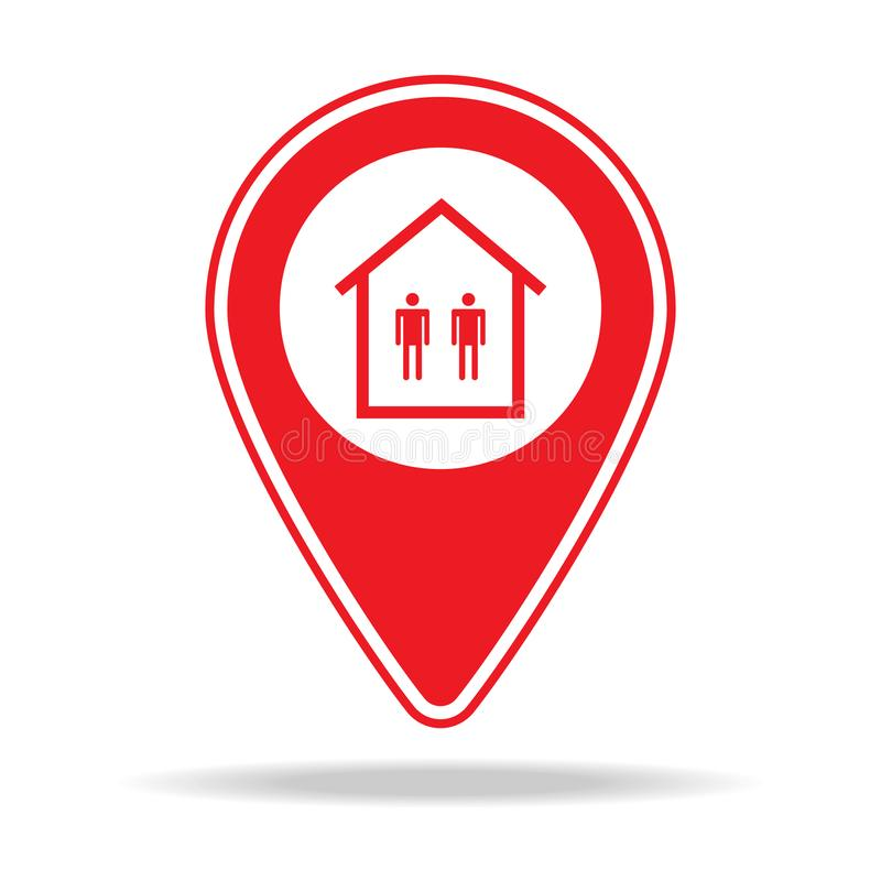 miejsce kultu mapy szpilki ikona Element ostrzegawcza nawigaci szpilki ikona dla mobilnych pojęcia i sieci apps Szczegółowy miejs royalty ilustracja