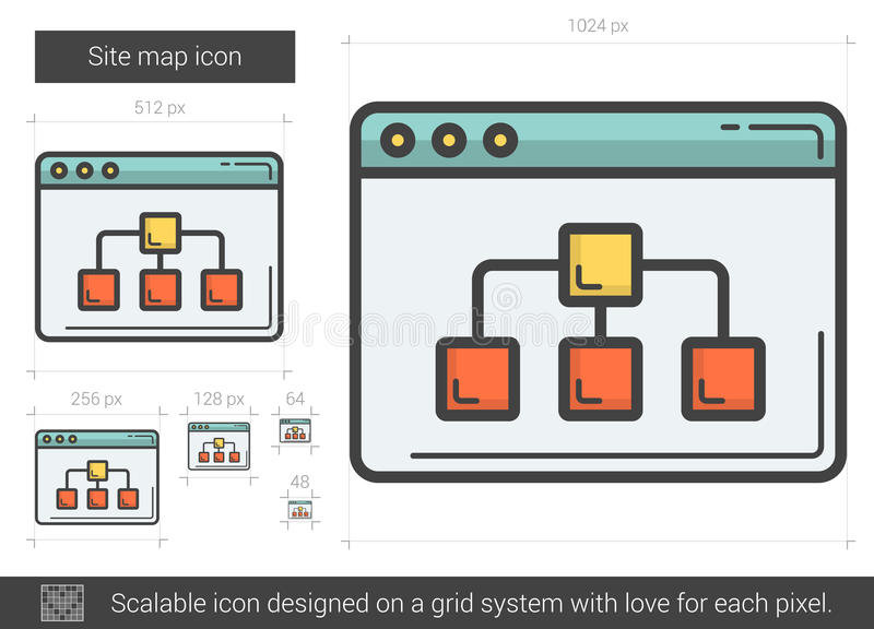 Miejsce mapy linii ikona royalty ilustracja