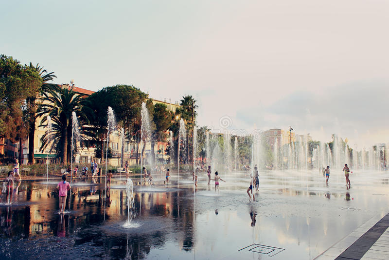 Miejsce Massena w Ładnym, Francja obraz stock