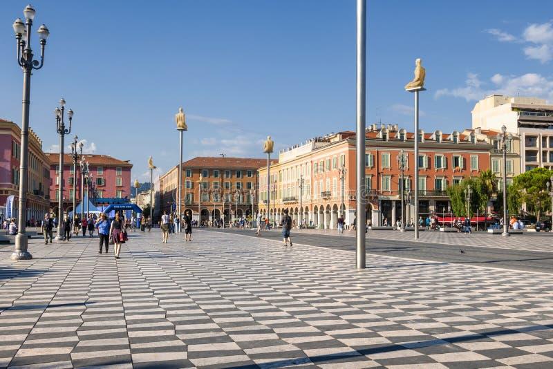 Miejsce Massena w Ładnym, Francja fotografia royalty free