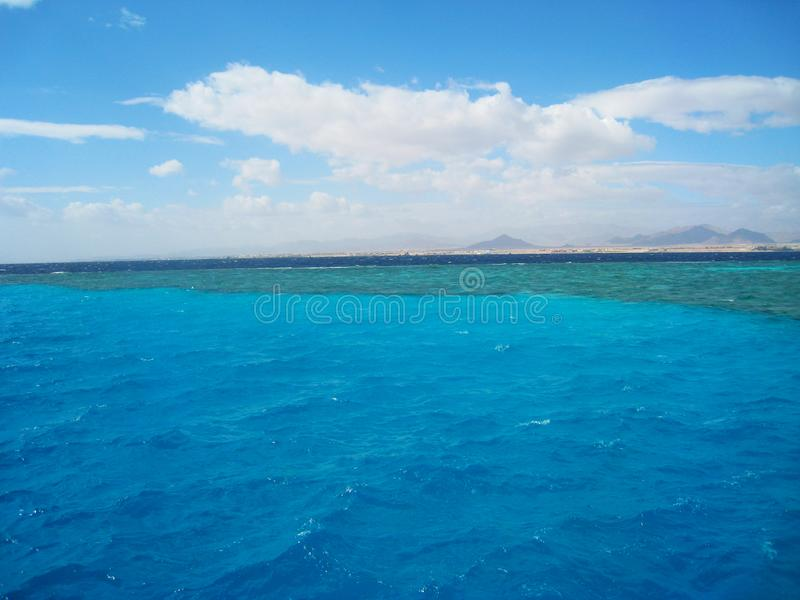 Miejsce mieszać wody Czerwony morze Synaj, Egipt obraz royalty free