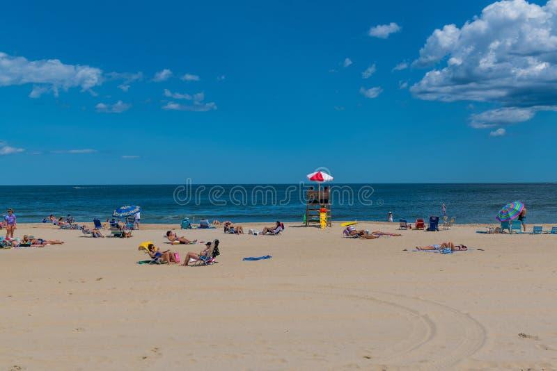 Miejsce na plaży obrazy royalty free
