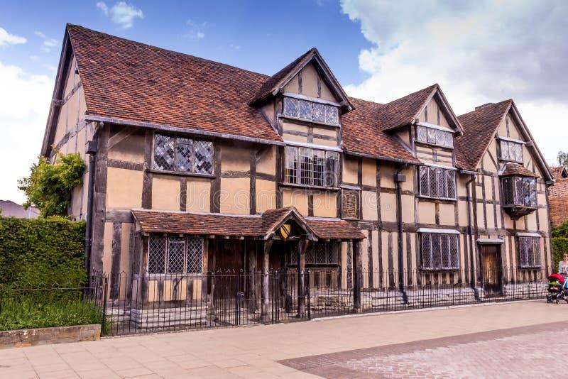 Miejsce narodzin William Shakespeare na Henley ulicie w Stratford na Avon, Warwickshire, Anglia, UK zdjęcie royalty free