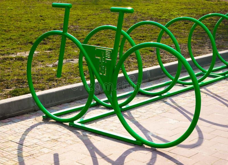 Miejsce Parkować rowery zdjęcia royalty free