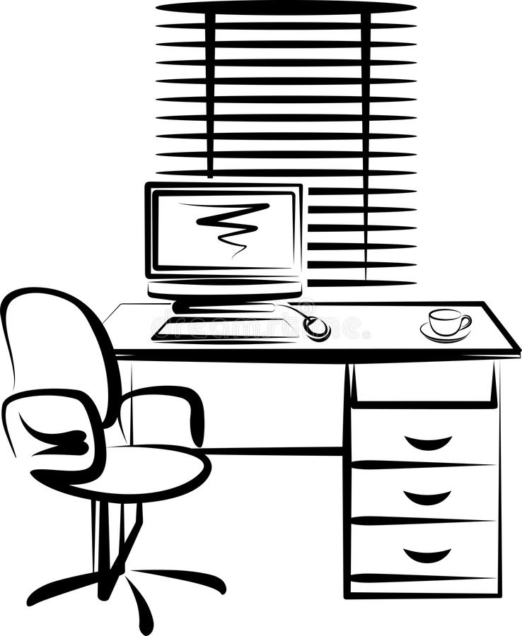 miejsce praca ilustracji