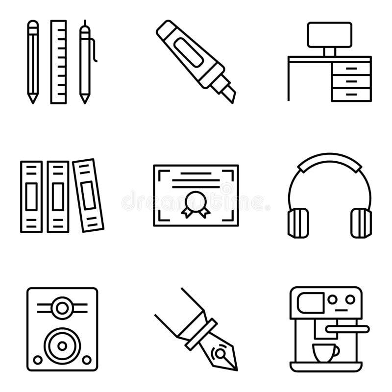 Miejsce pracy ikony Ustawia? royalty ilustracja