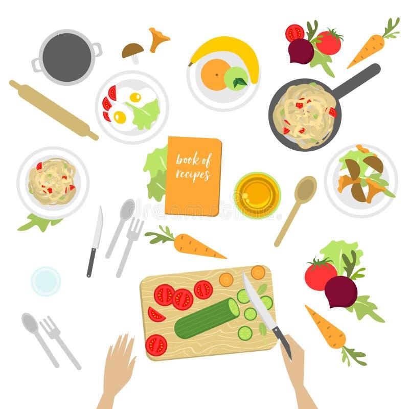 Miejsce pracy kucharz ilustracji