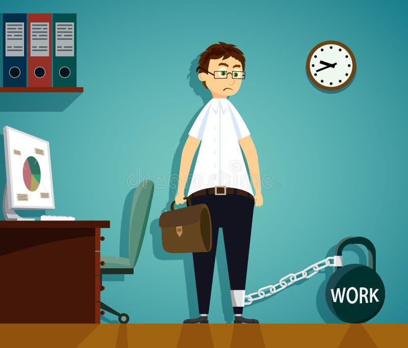 Miejsce pracy w biurze ilustracja wektor