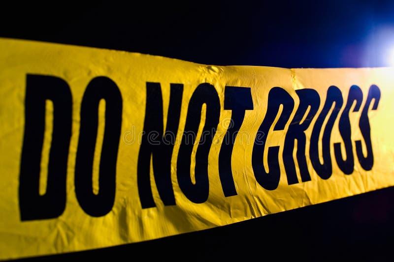 Miejsce przestępstwa zdjęcie stock