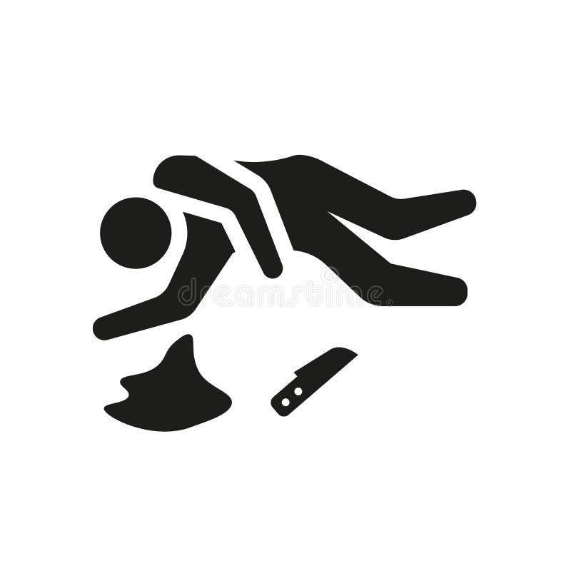 Miejsce przestępstwa ikona Modny miejsce przestępstwa logo pojęcie na białym backg ilustracja wektor