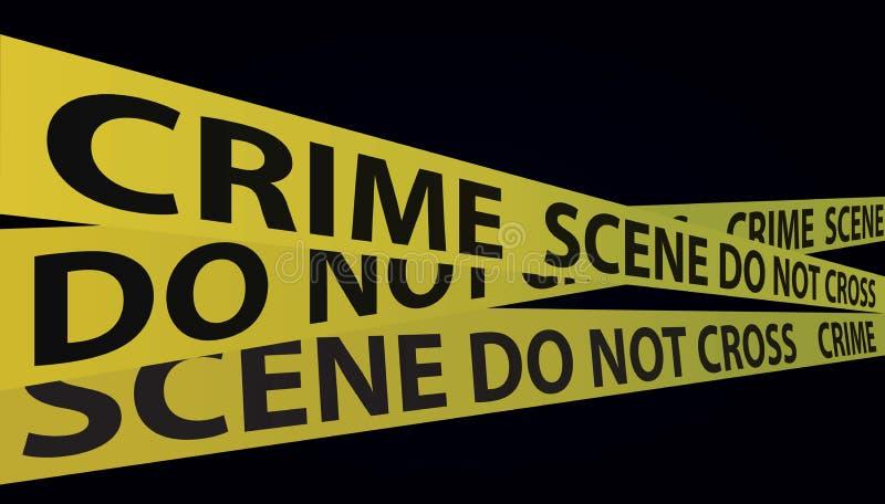 Miejsce Przestępstwa taśma ilustracji