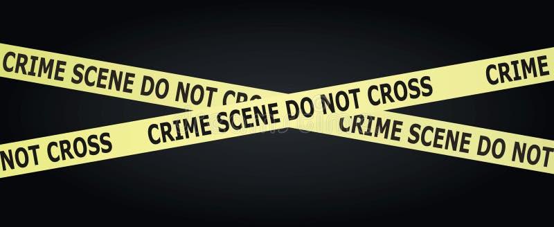 Miejsce Przestępstwa taśma ilustracja wektor