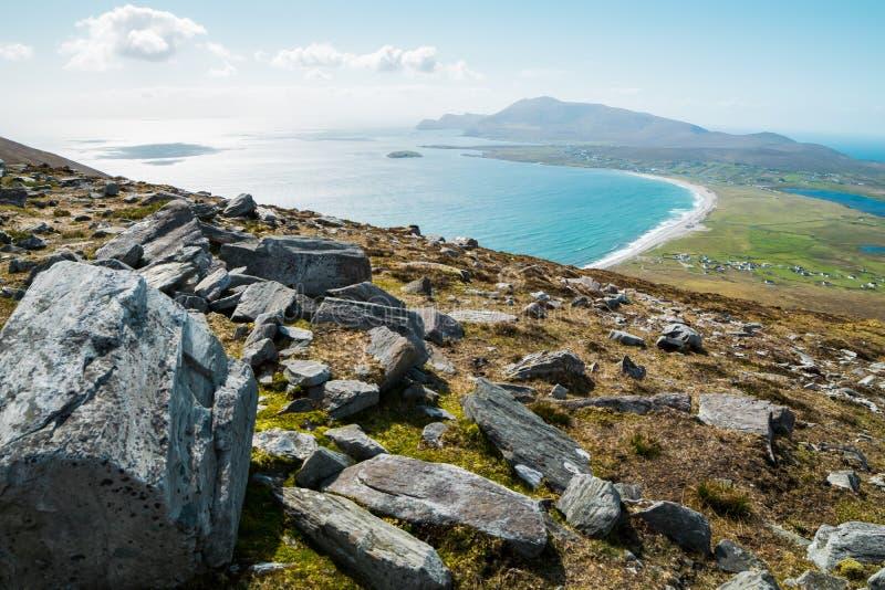 Miejsce przeznaczenia, Irlandia brzeg i dramatyczny krajobraz, obrazy stock