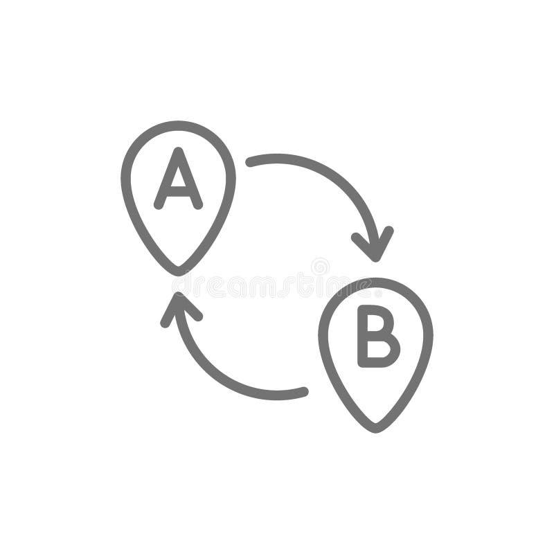 Miejsce przeznaczenia znak, koniec, rusza się różne lokacje wykłada ikonę ilustracji