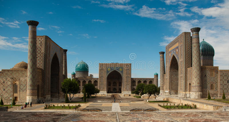 miejsce registan Samarkand obrazy stock