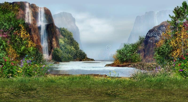 miejsce romantyczny ilustracji