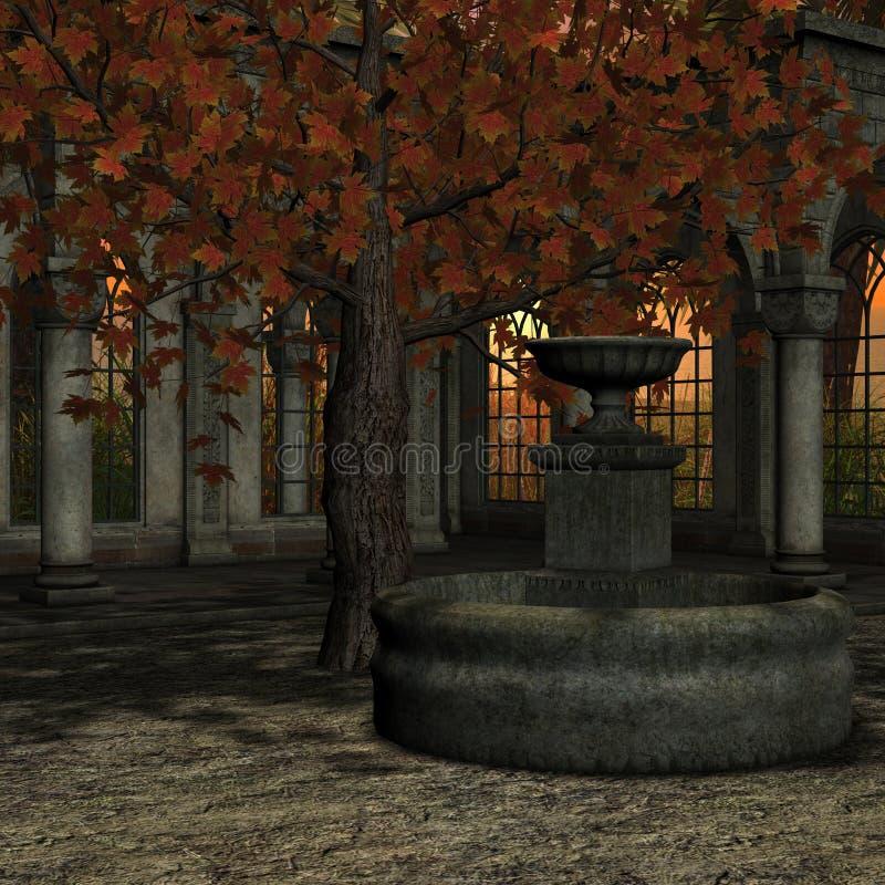 miejsce romantyczny royalty ilustracja