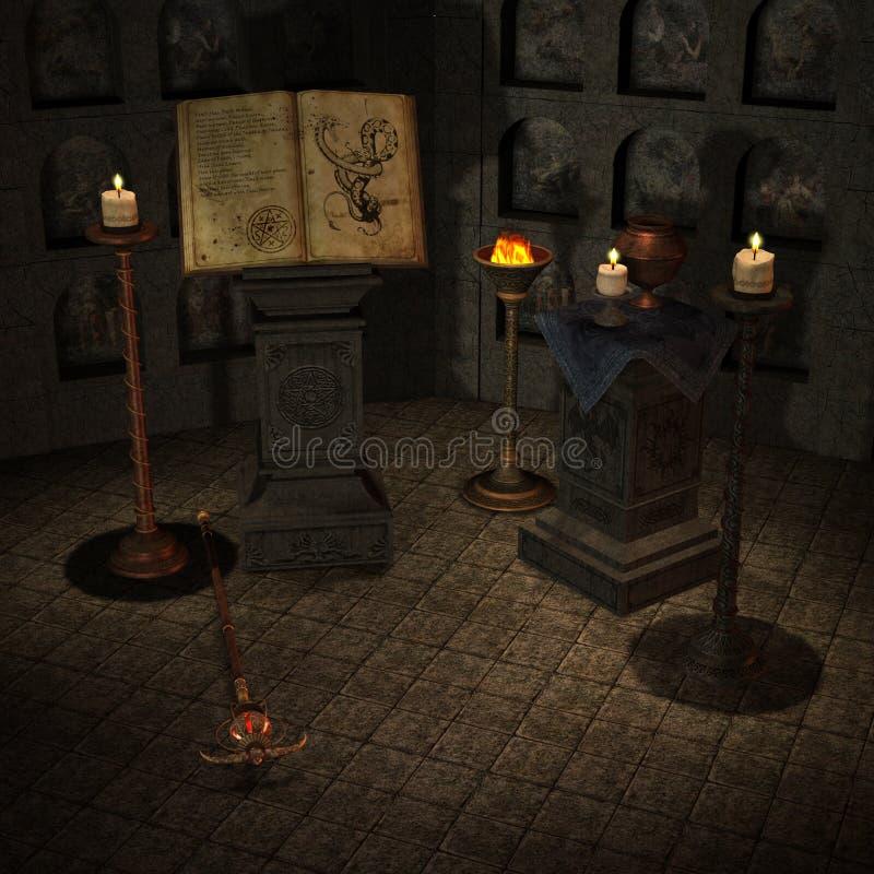 miejsce rytuałów royalty ilustracja