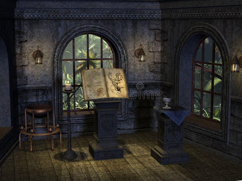 miejsce rytuałów ilustracji
