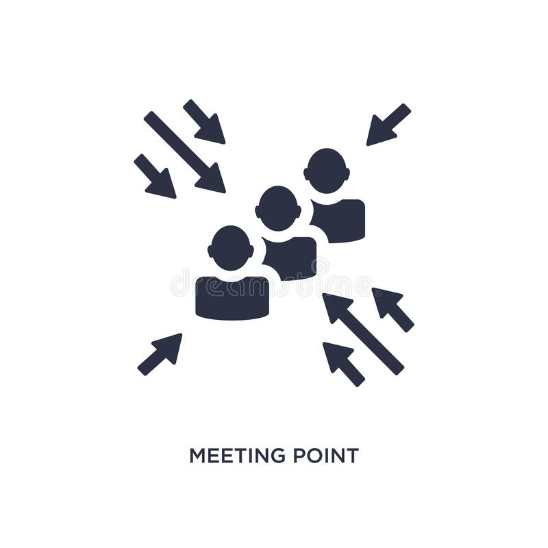 Miejsce spotkania ikona na białym tle Prosta element ilustracja od dział zasobów ludzkich pojęcia ilustracji
