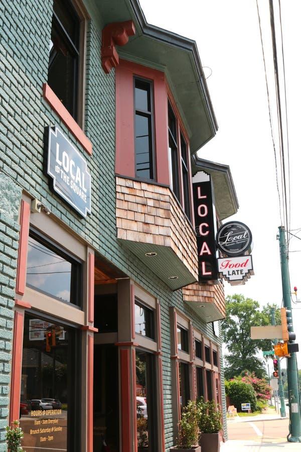 Miejscowego bar I knajpa, Memphis Tennessee obraz royalty free