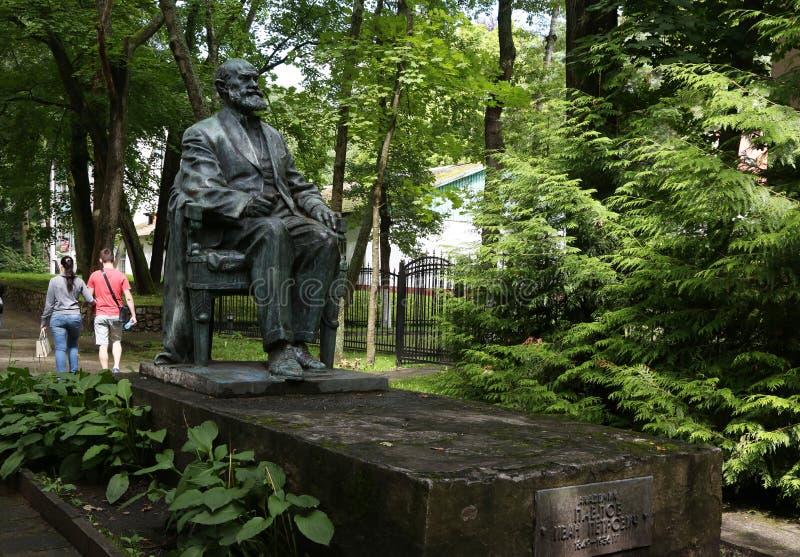 Miejscowość wypoczynkowa Svetlogorsk do 1947 - Niemiecki miasto Raushen Zabytek academician Ja P pavlov zdjęcia stock