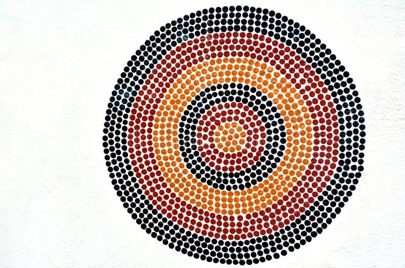 Miejscowy Australijski sztuki kropki obraz zdjęcia royalty free